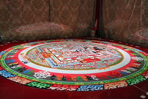 Completed Kalachakra mandala, a sacred sand painting