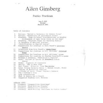 allen ginsberg celestial homework