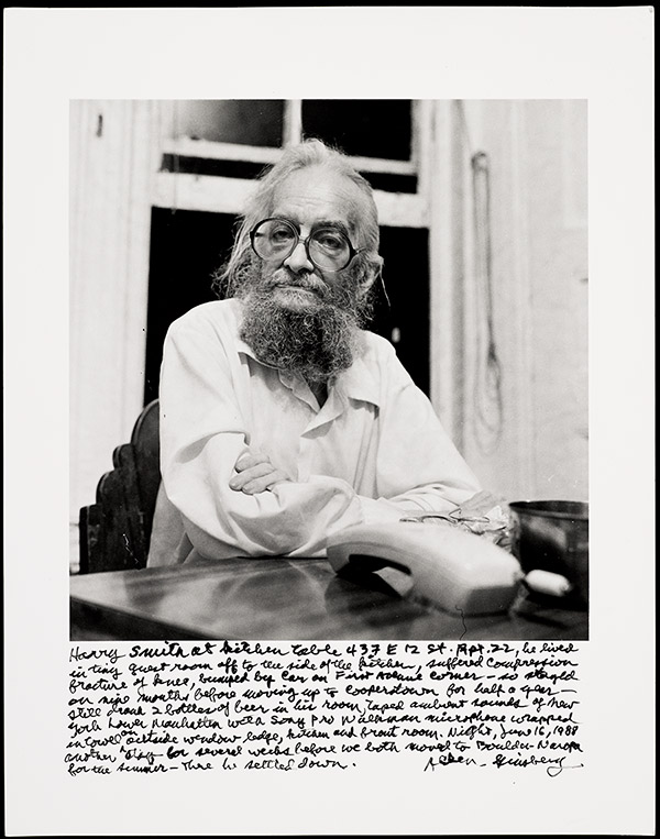 Harry Smith at Allen Ginsberg's Kitchen Table, New York City, 16 June 1988 / Allen Ginsberg