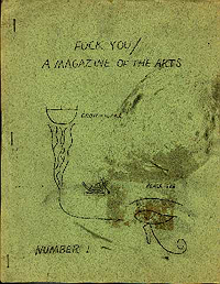 Fuck You, A Magazine of the Arts, Number 1 (Feb/April 1962)