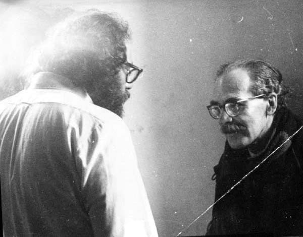 Allen Ginsberg and Basil Bunting at Morden Tower