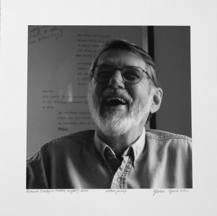 Gloria Graham photograph of Robert Creeley