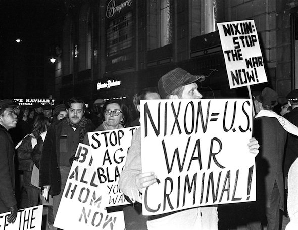 Nixon approved a top-secret plan to increase electronic surveillance of anti-Vietnam War activists, authorizing the CIA, the FBI, and the military to intercept mail and lifting restrictions on break-ins.