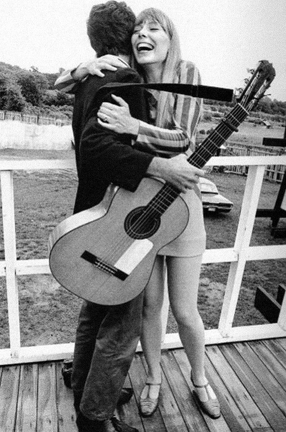 Joni Mitchell hugging Leonard Cohen,,, This photo of Joni Mitchell hugging Leonard Cohen was taken in 1967