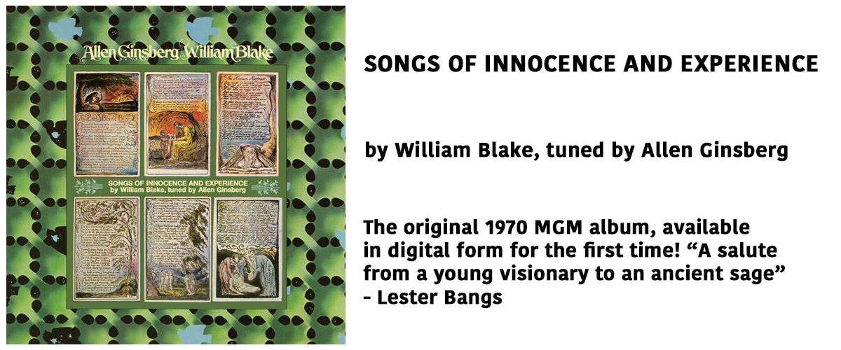 Allen Ginsberg's 1970 album of new songs set to William Blake's poems